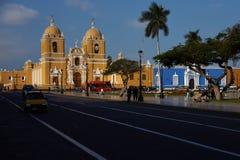 特鲁希略角Plaza de阿玛斯 免版税库存照片