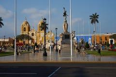 特鲁希略角Plaza de阿玛斯 库存图片