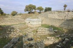 特洛伊废墟  库存图片