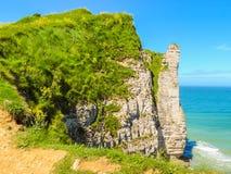 彻特d'Albatre或雪花石膏海岸, Etretat,法国 图库摄影