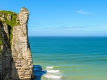 彻特d'Albatre或雪花石膏海岸, Etretat,法国 库存图片