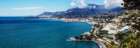 彻特d'Azur,芒通,法国 免版税图库摄影