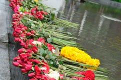 牺牲。红色玫瑰 免版税库存图片