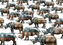 犀牛共和党人仅只名上 图库摄影