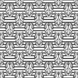 犀牛几何线型无缝的传染媒介样式 免版税库存图片