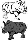 犀牛向量 免版税图库摄影