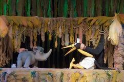 犀牛和长颈鹿 库存照片