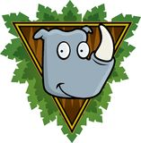 犀牛徒步旅行队 库存图片