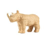 犀牛被隔绝的犀牛雕塑 库存图片