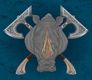 犀牛装饰物轴 免版税图库摄影