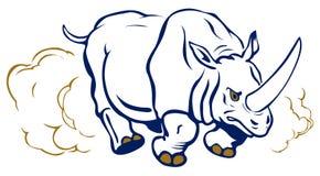 犀牛运行 免版税库存图片