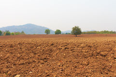 犁土地准备好耕种, 图库摄影