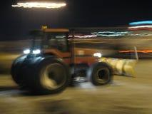 犁雪拖拉机 免版税图库摄影