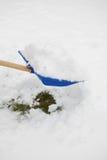 犁雪 免版税库存图片