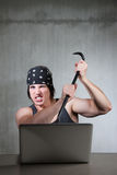 犯罪互联网 免版税库存图片