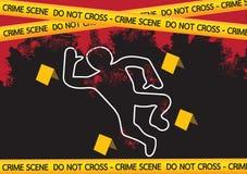 犯罪现场危险把例证录音 向量例证