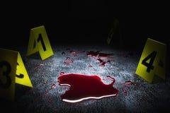 犯罪现场的大反差图象 免版税库存图片
