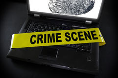 犯罪现场磁带 免版税库存图片