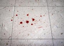 犯罪现场血液飞溅声 库存图片