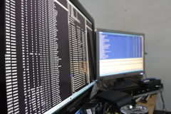 犯罪黑客渗透的网络 免版税库存照片