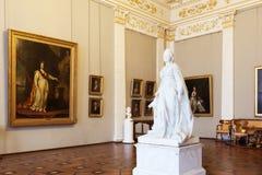 状态俄国博物馆的内部在圣彼德堡,俄罗斯 免版税库存照片
