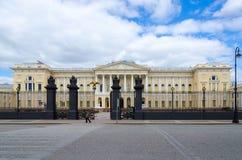 状态俄国博物馆Mikhailovsky宫殿,圣彼德堡,俄罗斯 免版税库存图片