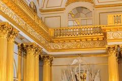 状态偏僻寺院内部在StPetersburg,俄罗斯 免版税库存照片