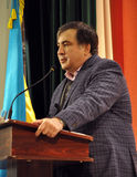 状态和政客米哈伊尔Saakashvili_24 库存照片