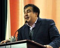 状态和政客米哈伊尔Saakashvili_34 库存照片