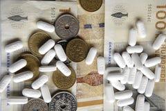 状态和药房达成了医学协议 免版税图库摄影