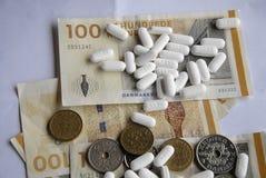 状态和药房达成了医学协议 免版税库存照片