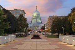 状态国会大厦大厦,麦迪逊。 库存图片