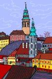 状态城堡捷克克鲁姆洛夫-捷克 免版税图库摄影