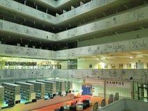 状态技术图书馆的内部在布拉格(捷克) 免版税库存照片