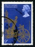 状态教练英国邮票 库存图片