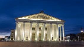 状态歌剧和芭蕾舞团timelapse hyperlapse 阿斯塔纳卡扎克斯坦 股票录像