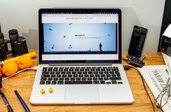 状态的提姆・库克苹果计算机CEO在WWDC 2017年会议开发商 库存照片