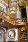 状态霍尔图书馆的细节在维也纳 图库摄影