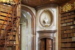 状态霍尔图书馆的细节在维也纳 免版税库存图片
