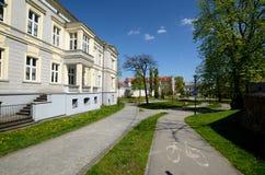 状态音乐学校在格利维采,波兰 免版税图库摄影