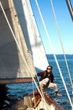 状态主要游艇旅行 免版税库存图片