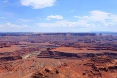犹他全景 科罗拉多河峡谷 免版税库存图片