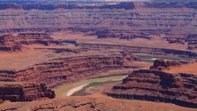 犹他全景 科罗拉多河峡谷 库存照片