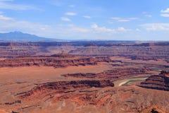 犹他全景 科罗拉多河峡谷 免版税图库摄影