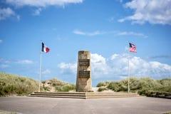 犹他海滩入侵登陆的纪念品,诺曼底,法国 免版税库存图片