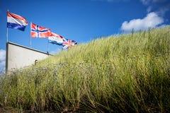 犹他海滩入侵登陆的纪念品,诺曼底,法国 免版税库存照片