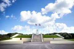 犹他海滩入侵登陆的纪念品,诺曼底,法国 库存照片