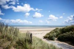 犹他海滩 攻击开始日着陆海滩,诺曼底,法国 库存图片