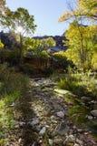 犹他秋天风景- Canyonlands小河 库存图片