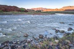 犹他鸟瞰图的科罗拉多河 免版税库存图片